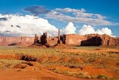 Nuvens de tempestade sobre o vale do monumento Foto de Stock