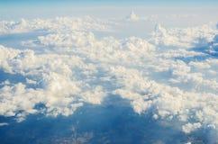 Nuvens do airplance Imagens de Stock