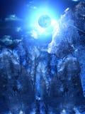 Nuvens do céu da lua imagem de stock royalty free