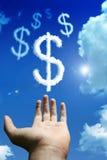 Nuvens do dólar Imagem de Stock