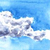 Nuvens do desenho da aquarela Imagens de Stock