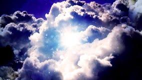 Nuvens do espaço escuro