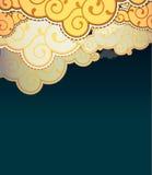 Nuvens do estilo dos desenhos animados Fotografia de Stock