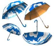 Nuvens do guarda-chuva ajustadas Imagens de Stock Royalty Free