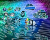 Nuvens do Internet Fotografia de Stock
