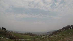 Nuvens do lapso de tempo, manhã, Croácia, ângulo largo, mediterrâneo, Grécia, filme