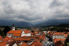 Nuvens do mau tempo em Kamnik Foto de Stock
