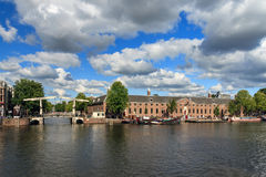 Nuvens do museu de Amstel Imagem de Stock Royalty Free