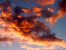 Nuvens do por do sol fotografia de stock royalty free