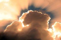 Nuvens do por do sol Imagem de Stock Royalty Free