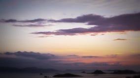 Nuvens do por do sol vídeos de arquivo