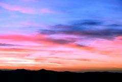 Nuvens do por do sol Fotografia de Stock Royalty Free