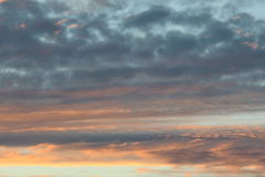 Nuvens do por do sol Imagem de Stock Royalty Free