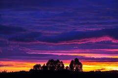 Nuvens do por do sol imagens de stock royalty free