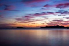 Nuvens do por do sol de Ibiza Fotos de Stock