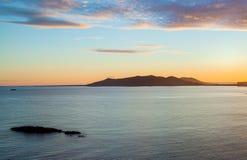 Nuvens do por do sol de Ibiza Fotografia de Stock Royalty Free