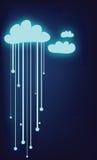 Nuvens do vetor Fotos de Stock Royalty Free