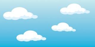 Nuvens do vetor Fotos de Stock