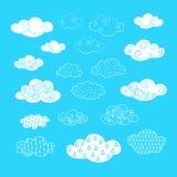 Nuvens do vetor Foto de Stock