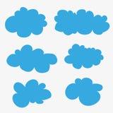 Nuvens do vetor cartoons Fotos de Stock