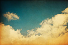 Nuvens do vintage Fotos de Stock Royalty Free