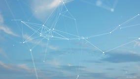 Nuvens do voo no céu e no plexo ilustração stock