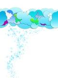 Nuvens dos desenhos animados Foto de Stock Royalty Free