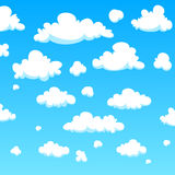 Nuvens dos desenhos animados Fotos de Stock Royalty Free