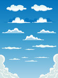 Nuvens dos desenhos animados ajustadas Fotos de Stock