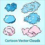 Nuvens dos desenhos animados ajustadas Imagem de Stock