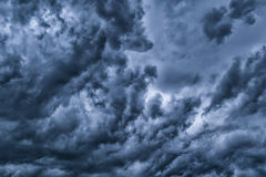 Nuvens dramáticas Imagem de Stock Royalty Free