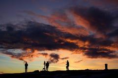 Nuvens dramáticas e Silhouttes Fotografia de Stock Royalty Free