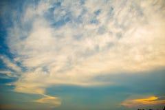 Nuvens e céu azul Fotos de Stock Royalty Free