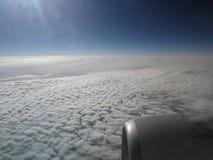 Nuvens e céu bonitos fotografia de stock