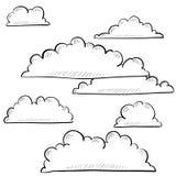 Nuvens e esboço do céu Imagens de Stock