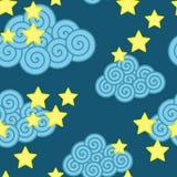 Nuvens e estrelas ilustração royalty free
