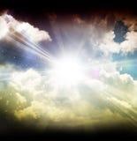 Nuvens e estrelas Fotografia de Stock