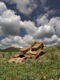 Nuvens e formação de rocha Foto de Stock Royalty Free