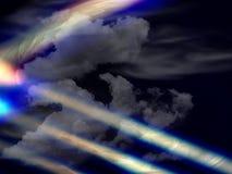 Nuvens e luzes estranhas Fotos de Stock Royalty Free