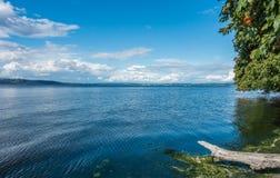 Nuvens e paisagem do mar Imagens de Stock Royalty Free
