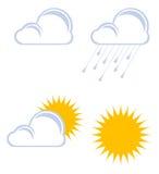 Nuvens e sol ilustração royalty free