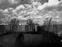 Nuvens e sol Fotografia de Stock