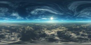 Nuvens e sol, céu bonito com nuvens Fotografia de Stock Royalty Free