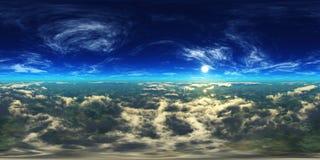 Nuvens e sol, céu bonito com nuvens Foto de Stock Royalty Free