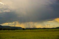 Nuvens e tempestade do por do sol Imagens de Stock Royalty Free