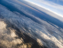 Nuvens em 35.000 pés Foto de Stock Royalty Free