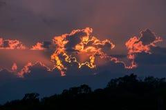 Nuvens em Colima Fotografia de Stock