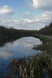 Nuvens em The Creek Imagens de Stock Royalty Free