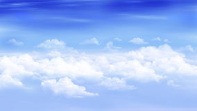 Nuvens em um céu azul ilustração royalty free