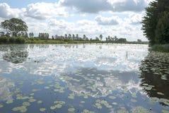 Nuvens em um lago. Imagem de Stock Royalty Free
